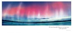 Aurora Borealis Over Lake - 3 section Panoramic card